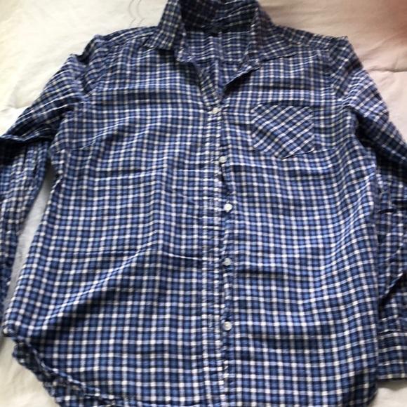 AEO thin cotton plaid cotton long sleeve. XL